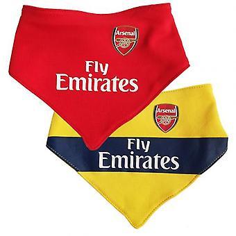 Arsenal 2 pack slabbetjes YL
