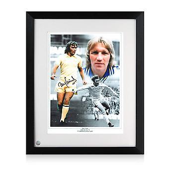 Tony Currie signiert Leeds United Foto. Gerahmt