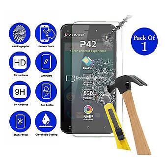 Pack of 1 Tempered Glass Screen Protection For Allview P42 4
