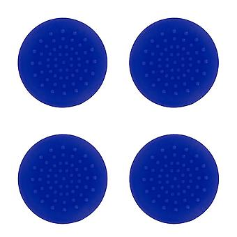 TPU analoge duim grip stick concave covers caps voor Xbox 360-4 pack blauw