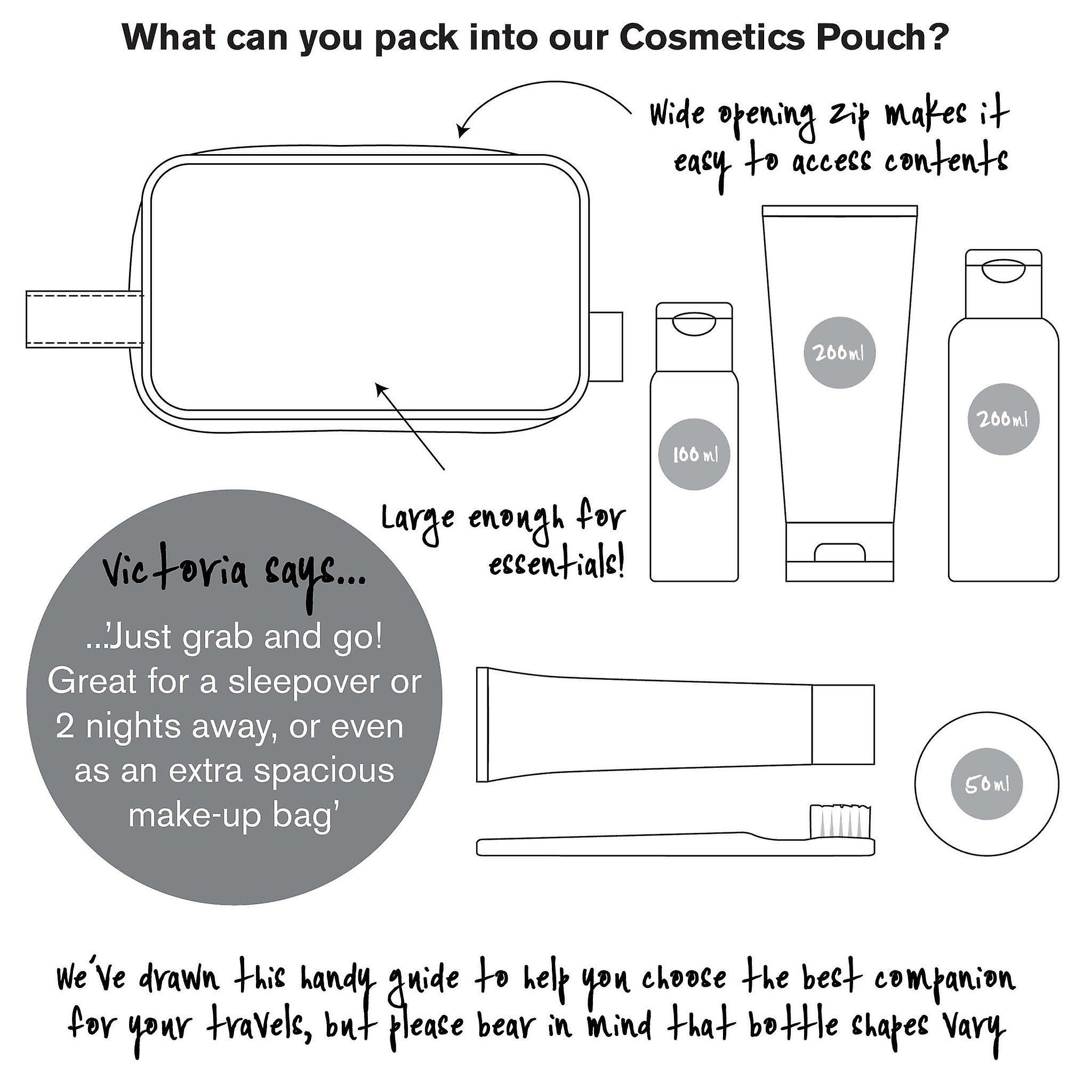 'victoria green' cosmetics pouch - starflower blush
