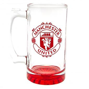 Manchester United FC Crest Glass Tankard