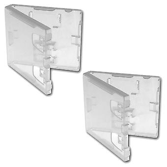 Reemplazo nintendo ds & gba retail game cartridge case - 10 pack clear