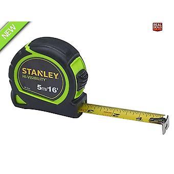 Stanley Hi-Viz Tylon Tape 5m/16ft (Largeur 25mm)