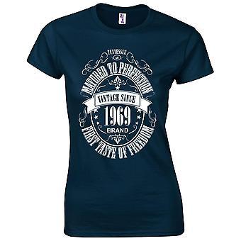 50e verjaardag cadeaus voor vrouwen haar gerijpte 1969 T-shirt