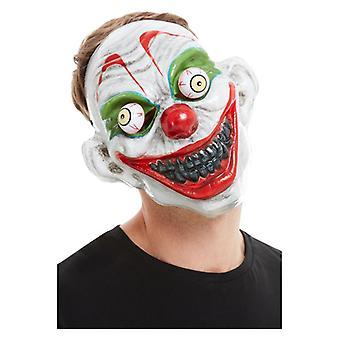 Mężczyźni Moving Eyes Clown Mask Halloween Akcesoria