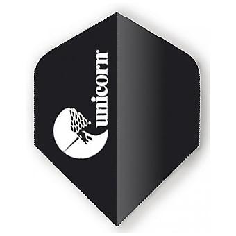 Unicorn Darts Maestro.100 Big Wing Flights Micron Ultra Durable - Black