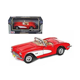 MotorMax American Classics - 1959 Red Corvette   1:24
