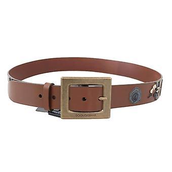 Siciliano occidentale ampia cintura in pelle marrone - BEL5196848