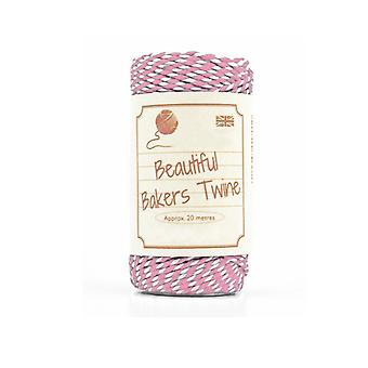 20m Rose Pink Natural Bakers Twine for Crafts & Gift Wrapping