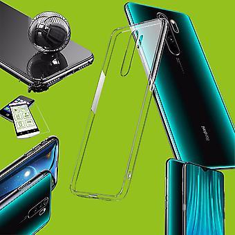 For Xiaomi Redmi Note 8 Pro Silicone Case TPU Transparent + 0.26 H9 Glass Case Cover Cover