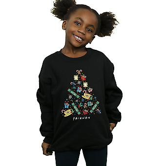Friends Girls Christmas Tree Sweatshirt