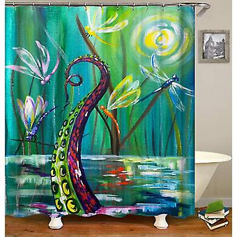 Dragonflies And Octopus' Arm Shower Curtain