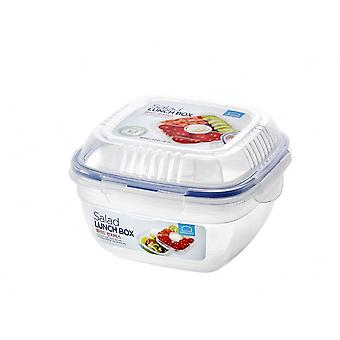 Lock & Lock Square Salad Lunch Box With Tray And Dressing Pot