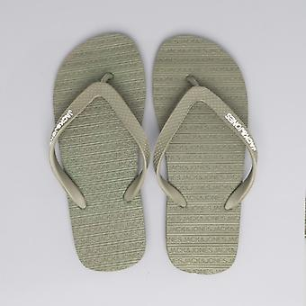 Jack & Jones Basic Mens Flip Flops Olive Night
