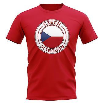 Tsjechië voetbal badge T-shirt (rood)