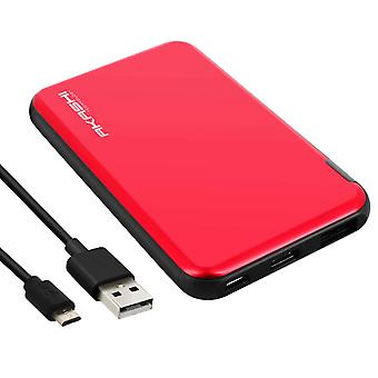 5000 mAh universele Power Bank 2,1 USB-poort Fast charge-Akashi-rood