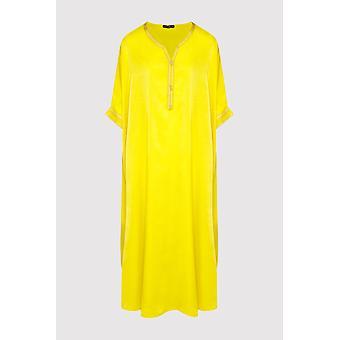 Kaftan sabine short sleeve lightweight maxi dress in yellow