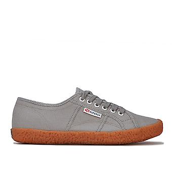 Womens Superga 2750 Cotu Classic Pumps In Grey- Lace Fastening- Cushioned
