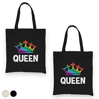 LGBT Queen Queen Rainbow Crown BFF matching kankaalle Laukut lahja