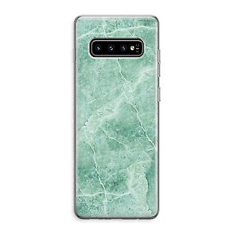 Samsung Galaxy S10 Plus Custodia trasparente (Soft) - marmo verde