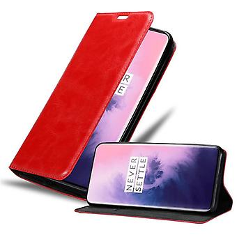 Cadorabo Case for OnePlus 7 PRO Case Cover - Phone Case with Magnetic Closure, Stand Function and Card Compartment - Case Cover Case Case Case Case Case Book Folding Style