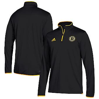 Adidas Nhl Boston Bruins Climalite Quarter-zip Pullover Jacket