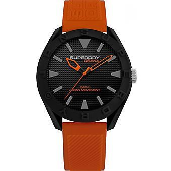 Superdry SYG243OB - Osaka Orange black man Silicone case Silicone Bracelet Watch