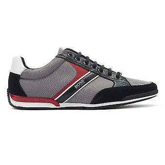 BOSS Saturn Mix Low Mens Grey / Red Trainers
