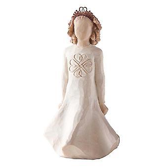 Figurine irlandaise de charme d'arbre de saule