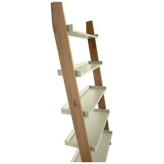 Fusion Living Modern Retro Oak And Vanilla Ladder Shelf