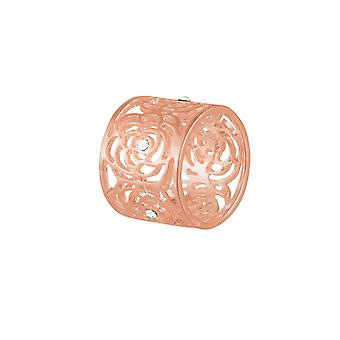 Eternal Collection Monet Clear Crystal Rose Gold Tone Scarf Ring