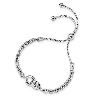 3.3mm 925 Sterling Argent Rhodium plaqué Fancy Link Réglable 4 9inch Bracelet Bijoux Cadeaux pour les femmes