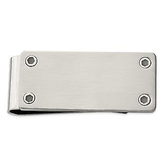 21.84mm Stainless Steel Brushed and Polished Money Clip Jewelry Gifts for Men