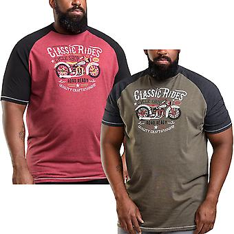 Duke D555 Hommes Evans Big Tall King Size Raglan Short Sleeve T-Shirt Tee Top