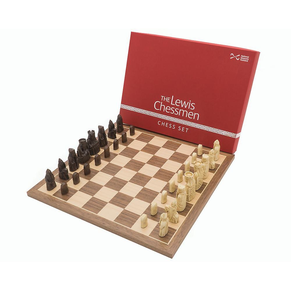 The Official Lewis Walnut Chess Set Mid Sized