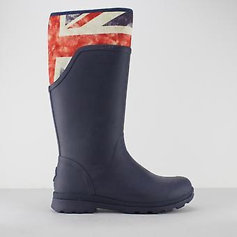 Muck Boots Cambridge Ladies Rubber Wellington Boots Navy/ Union Jack