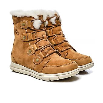 Sorel Suede Explorer Joan Faux Fur Collar Boots