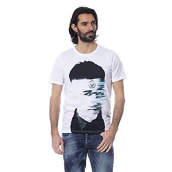 White Frankie Morello Men's Short Sleeve T-shirt