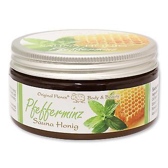 Florex Sauna Honig - Pfefferminz - für Sauna Dampfbad oder Dusche für eine Seidenweiche Haut 300 g