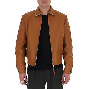 Loewe H5108570av2530 Men's Jaqueta outerwear de couro marrom