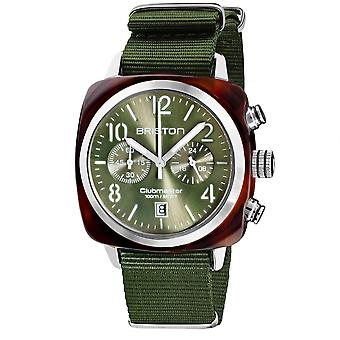 Briston 19140.SA.T.26.NOL Clubmaster Classic Olive Green Wristwatch