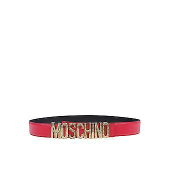 Moschino 80468006a0215 Dames's Fuchsia Lederen Riem