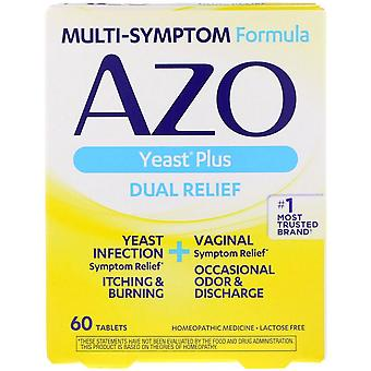 Azo yeast, natural symptom prevention & relief, 400 mg, tablets, 60 ea