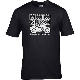 Moto Guzzi Make Power Classic - Motorsykkel Motorsykkel Biker - DTG Trykt T-skjorte