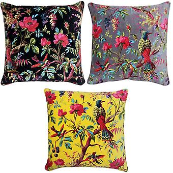 Riva Home Birds Of Paradise Floral Pattern Square Cushion Cover