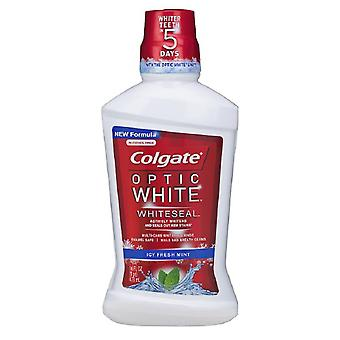 Colgate optic white mouthwash, refreshing mint, 16 oz