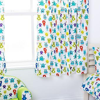 Ready Steady Bed Monsters Aliens Design Children's Bedroom Curtains 66