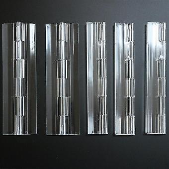 5 x 150mm CLEAR, continosos bisagras de piano acrílico,