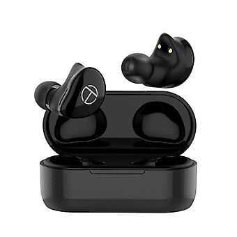 Trn t200 tws dual hifi drivers bluetooth earphone smart touch waterproof sport with charging box for xiaomi huawei iphone